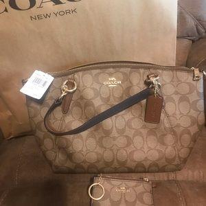 NWT Coach purse and coin pouch